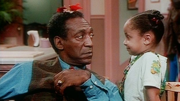 Cliff (Bill Cosby, l.) verhandelt mit Olivia (Raven Symone, r.) über die Repa...