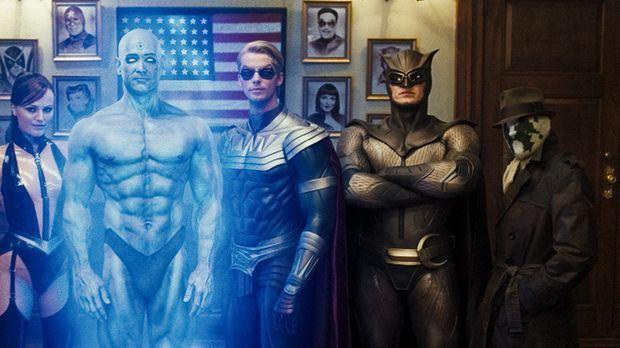 Wer wird die Wächter überwachen? (v.l.n.r.) die Superhelden und Watchmen The...