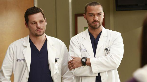 Die Veränderungen im Krankenhaus machen Alex (Justin Chambers, l.) und Jackso...