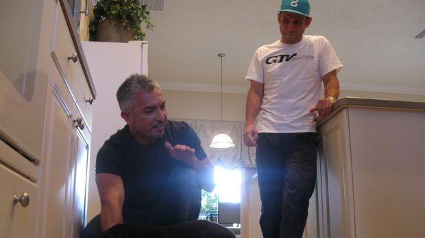 Heute stattet Cesar (l.) dem Rennfahrer Kevin Harvick (r.) einen Besuch ab. F...