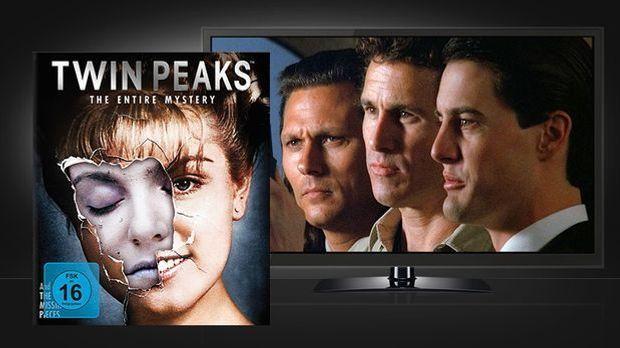 Twin Peaks - The Entire Mystery: Blu-ray Box und Szenenbild