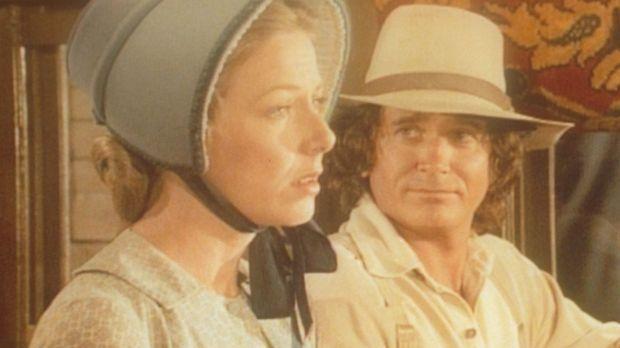 Caroline (Karen Grassle, l.) und Charles (Michael Landon, r.) machen sich gro...