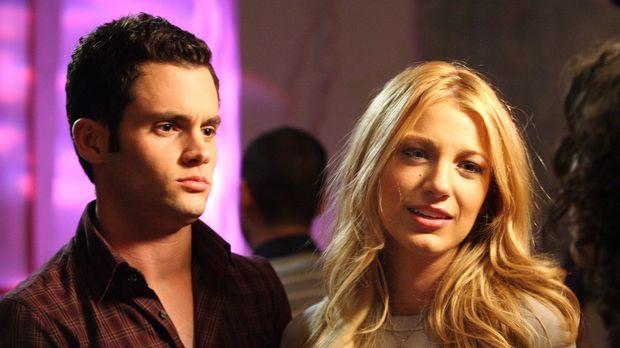 Dan (Penn Badgley, l.) möchte Serena (Blake Lively, r.) mit Vanessa, seiner b...