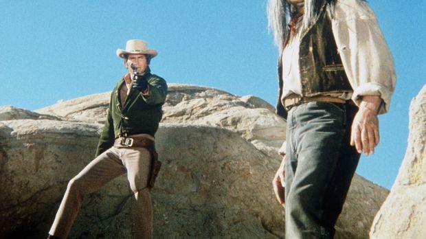 Little Joe Cartwright (Michael Landon, l.) versucht, den Indianer Grey Buck (...