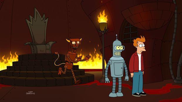 Seit Calculons tragischem Tod vor über einem Jahr sind Bender (M.) und Fry (r...
