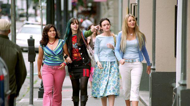Wahre Freunde: Tibby (Amber Tamblyn, 2.v.l.), Lena (Alexis Bledel, 2.v.r.), C...