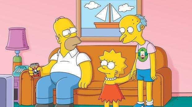 Nach dem Sturz von einer Klippe, verliert Mr. Burns (r.) sein Gedächtnis. Lis...