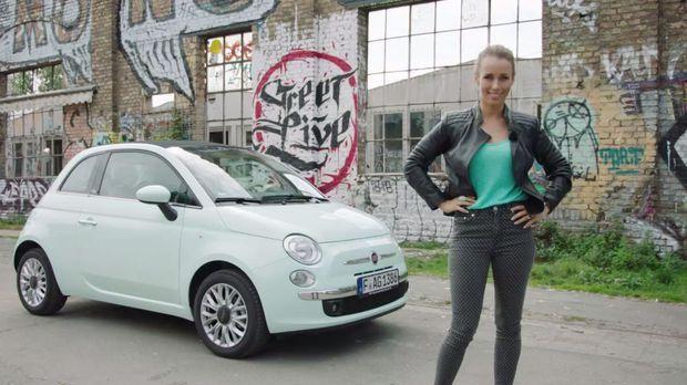 Moderatorin Annemarie Carpendale flitzt in dem neuen Fiat 500 durch die Repub...