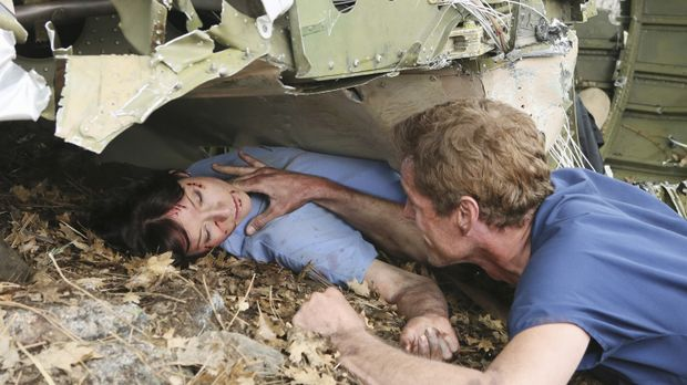 Ein Alptraum ist wahr geworden: Mark (Eric Dane, r.), Lexie (Chyler Leigh, l....