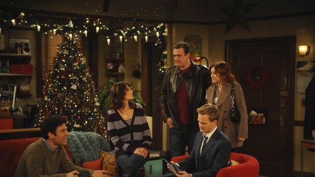 Positiv denken: Ted (Josh Radnor, l.), Marshall (Jason Segel, M.), Barney (Ne...