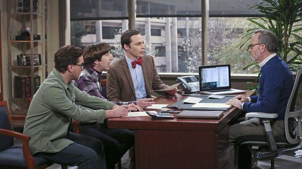 Leonard (Johnny Galecki, l.), Howard (Simon Helberg, 2.v.l.) und Sheldon (Jim...
