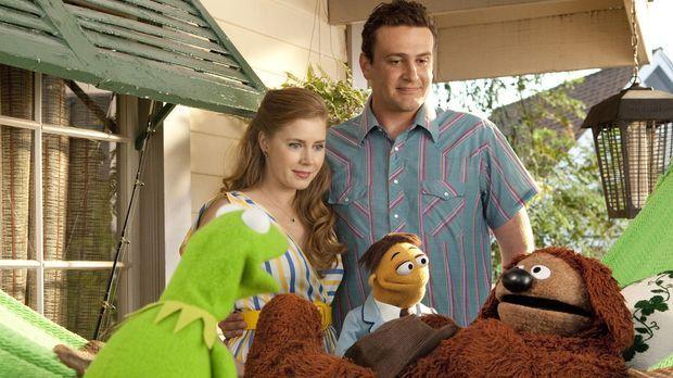 Mit Erschrecken stellen Gary (Jason Segel, r. hinten), Mary (Amy Adams, l. hi...