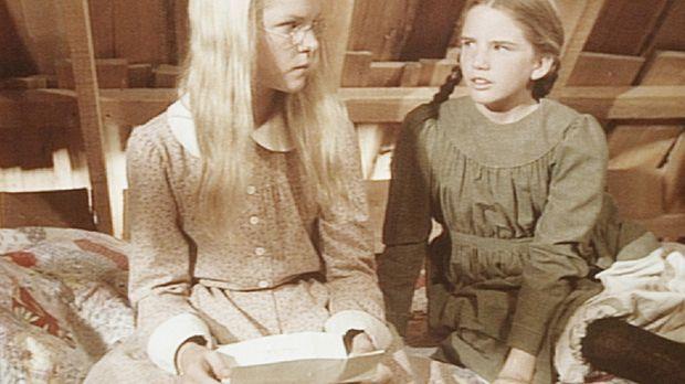 Laura (Melissa Gilbert, r.) lässt ihrer Schwester Mary (Melissa Sue Anderson,...