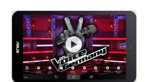 The Voice auf dem ProSieben Entertainment Pad