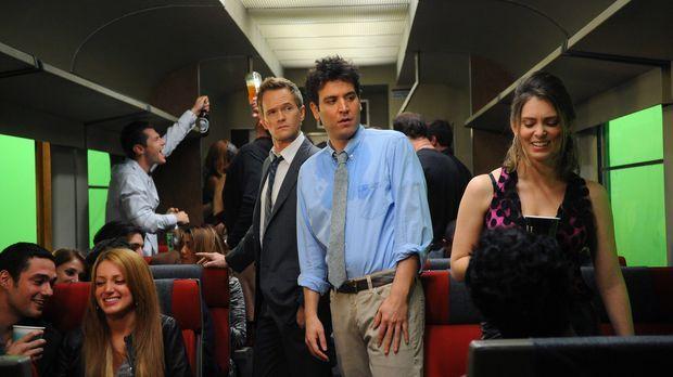 Hoffen, im Saufzug etwas Spaß zu finden: Ted (Josh Radnor, M.r.) und Barney (...