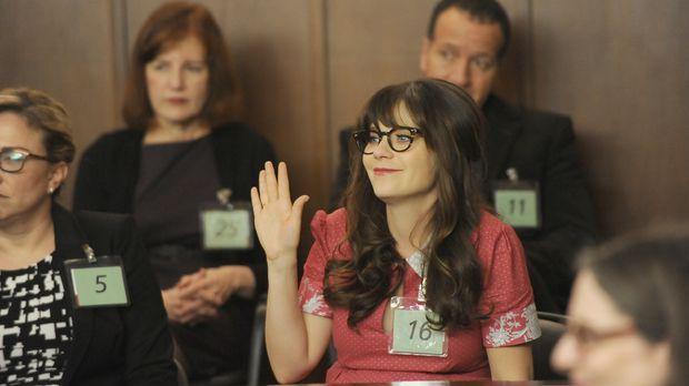 Jess (Zooey Deschanel) als Geschworene im Gericht - ist das wirklich eine gut...