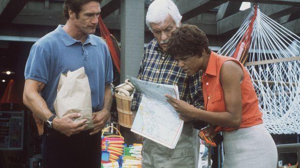 Steve (Barry Van Dyke, l.), Mark (Dick Van Dyke, M.) und Amanda (Victoria Row...