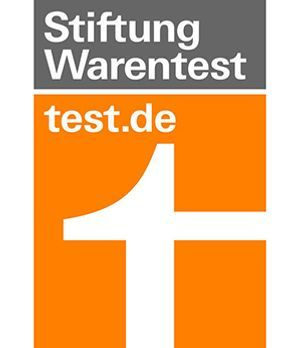stiftung warentest logo 300x348. Black Bedroom Furniture Sets. Home Design Ideas