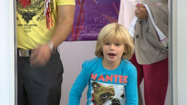 Der Vaterschaftstest beweist es schwarz auf weiß: Der sechsjährige Justus (Bi...