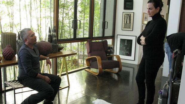 Cesar (l.) gibt heute einen Einblick in die hohe Kunst der Hundepsychologie....