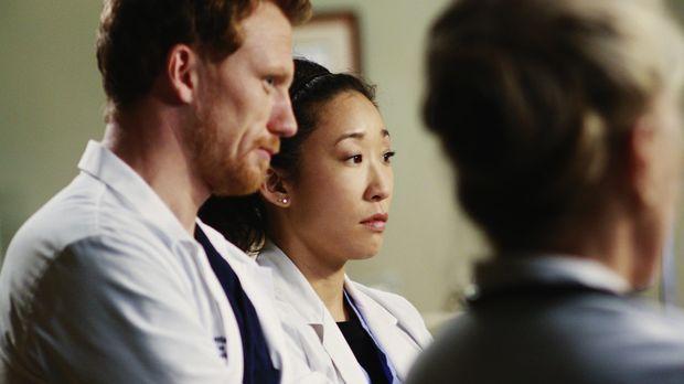 Ein turbulenter Arbeitstag: Owen (Kevin McKidd, l.), Cristina (Sandra Oh, M.)...