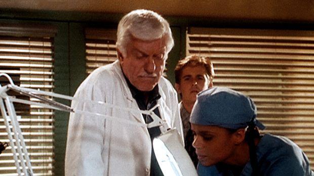 Amanda (Victoria Rowell, r.) und Mark (Dick Van Dyke, l.) entdecken zu Jesses...