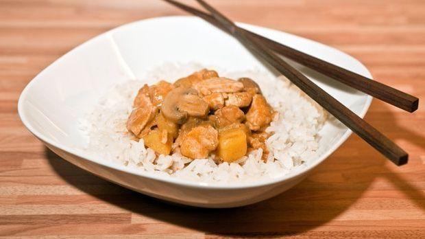 Curry, Ananas, Reis