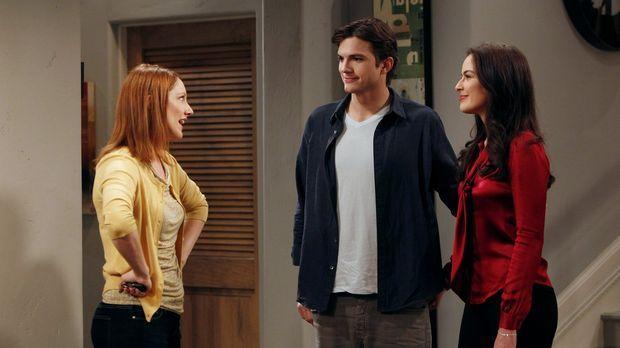 Walden (Ashton Kutcher, M.) gesteht Zoey (Sophie Winkleman, r.), dass er mit...