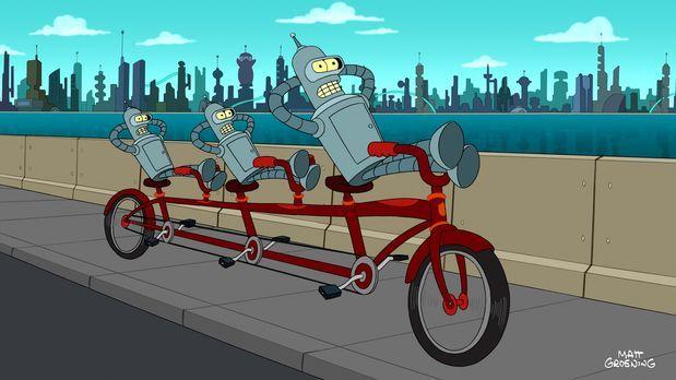 Futurama - Der Professor hat eine Duplikationsmaschine entwickelt und bald er...