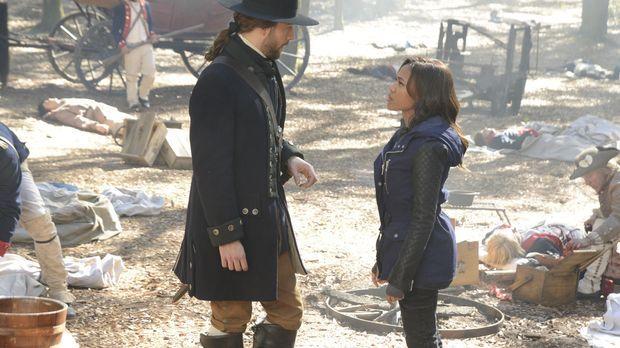 Kann Abbie (Nicole Beharie, r.) wirklich dem Ichabod (Tom Mison, l.) aus dem...