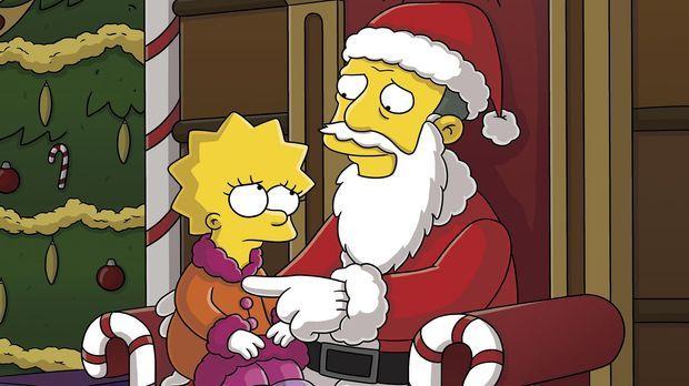 Es ist mal wieder Weihnachten in Springfield und Gil  Gunderson (r.), der Dau...
