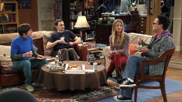 Da Raj keine Freundin hat, beschließen Penny (Kaley Cuoco, 2.v.r.), Sheldon (...