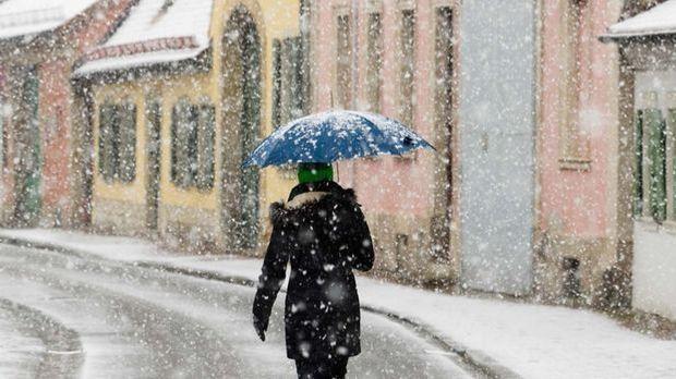 Schnee Frühling
