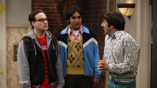 Leonard (Johnny Galecki, l.), Rajesh (Kunal Nayyar, M.) und Howard (Simon Hel...