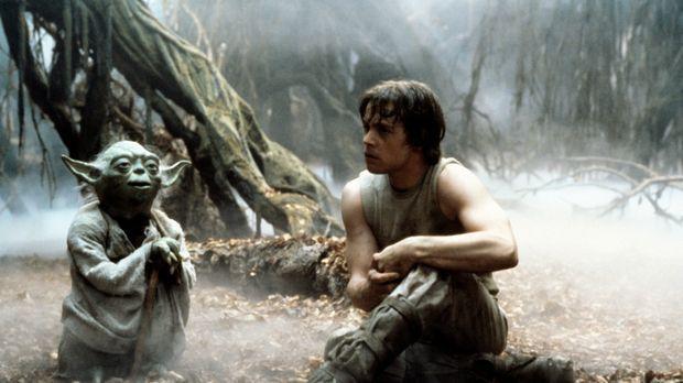 Jedi-Meister Yoda (Frank Oz, l.) versucht Luke Skywalker (Mark Hamill, r.), d...