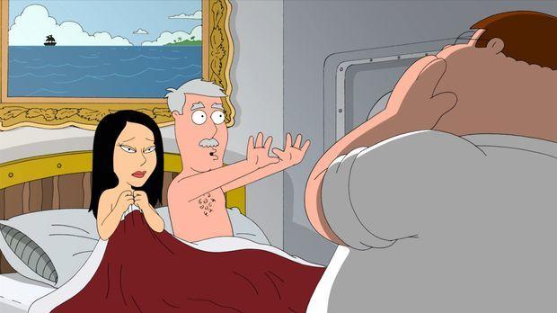 Peter (r.) und Lois sind zu einem Abendessen bei Lois'  Eltern eingeladen. Al...