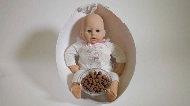 Mensch im Ei