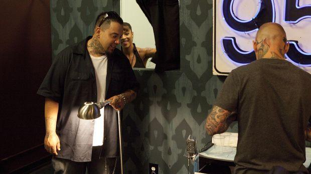 In L.A. haben sich Tommy Helm (r.), Big Gus (l.) und Jasmine Rodriguez (M.) d...