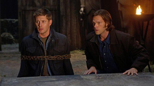 Sind einem mysteriösen Todesfall auf der Spur: Dean (Jensen Ackles, l.) und S...
