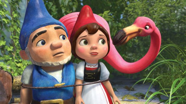 Für die Liebe zwischen dem blaubezipfelten Zwerg Gnomeo (l.) und der rotbezip...