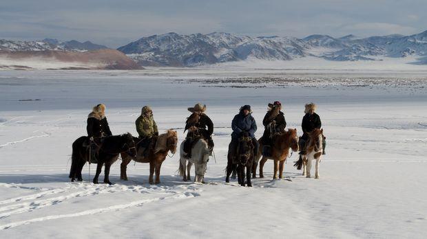 In den Altai Mountains in der Mongolei soll einst eine legendäre Bestie ihr U...