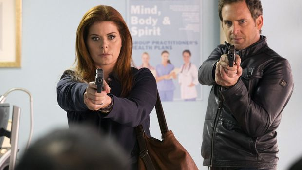 Detective Laura Diamond - Laura (Debra Messing, l.) und Jake (Josh Lucas, r.)...