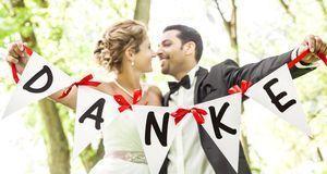 """Den Gästen """"Danke"""" sagen – nach der Hochzeit auf jeden Fall ein Muss. Wer kei..."""