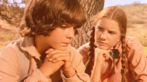 Albert (Matthew Laborteaux, l.) und Laura (Melissa Gilbert, r.) überlegen, wi...