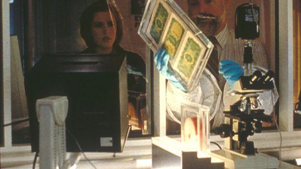 Scully (Gillian Anderson, l.) stellt mit Hilfe des Seuchen-Spezialisten Dr. L...