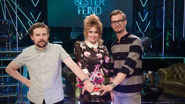 Machen den ultimativen Freundschaftstest: Joko Winterscheidt (r.), Klaas Heuf...