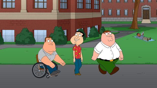 Family Guy - Ein ganz besonderer Abend wartet auf Joe (l.), Peter (r.) und Qu...