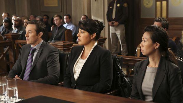 Wegen eines Behandlungsfehlers steht Callie (Sara Ramirez, M.) vor Gericht. I...