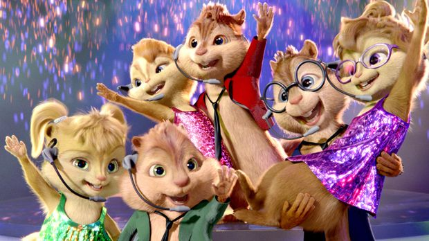Wenn die singfreudigen Chipmunks erst einmal in Fahrt sind, sind gute Laune,...