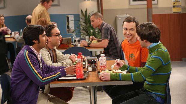 Sind ganz besondere Freunde: Leonard (Johnny Galecki, 2.v.l.), Sheldon (Jim P...